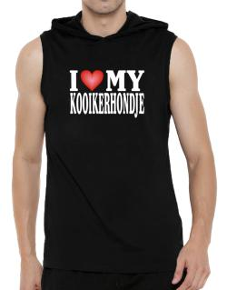 I Love Kooikerhondje Hooded Sleeveless T-Shirt - Mens