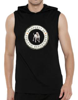 """ PROPERTY OF American Bulldog ATHLETIC DEPARTMENT TRANSFER "" Hooded Sleeveless T-Shirt - Mens"