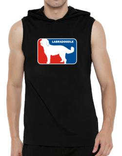 Labradoodle Sports Logo Hooded Sleeveless T-Shirt - Mens