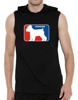 Schnauzer Sports Logo  Hooded Sleeveless T-Shirt - Mens