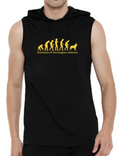 Evolution Of The Belgian Malinois Hooded Sleeveless T-Shirt - Mens