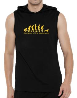 Evolution Of The Dachshund Hooded Sleeveless T-Shirt - Mens