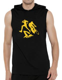 Triathlon Hooded Sleeveless T-Shirt - Mens