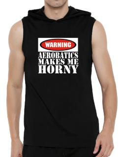 Aerobatics Horny Hooded Sleeveless T-Shirt - Mens