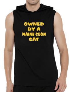 Owned By S Maine Coon Hooded Sleeveless T-Shirt - Mens