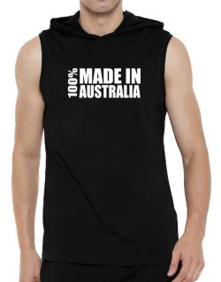 100% Made In Australia Hooded Sleeveless T-Shirt - Mens
