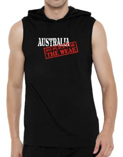 Australia No Place For The Weak Hooded Sleeveless T-Shirt - Mens