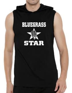 Bluegrass Star - Microphone Hooded Sleeveless T-Shirt - Mens