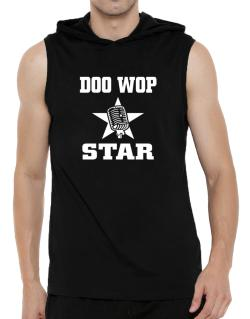 Doo Wop Star - Microphone Hooded Sleeveless T-Shirt - Mens