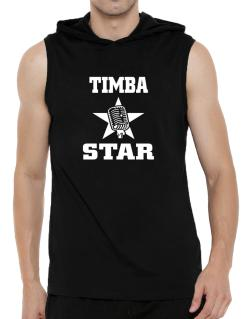 Timba Star - Microphone Hooded Sleeveless T-Shirt - Mens