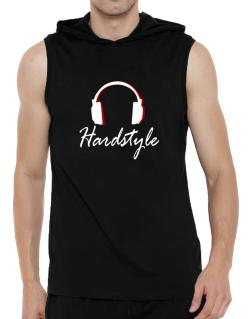 Hardstyle - Headphones Hooded Sleeveless T-Shirt - Mens