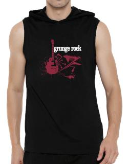 Grunge Rock - Feel The Music Hooded Sleeveless T-Shirt - Mens