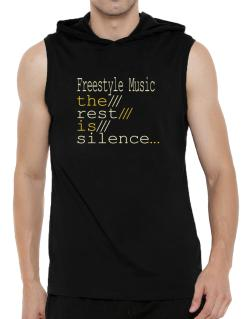 Freestyle Music The Rest Is Silence... Hooded Sleeveless T-Shirt - Mens