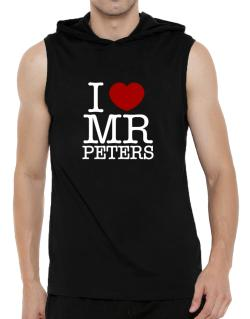 I Love Mr Peters Hooded Sleeveless T-Shirt - Mens