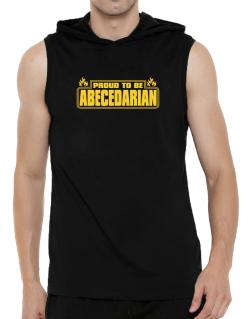 Proud To Be Abecedarian Hooded Sleeveless T-Shirt - Mens