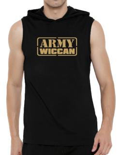 Army Wiccan Hooded Sleeveless T-Shirt - Mens