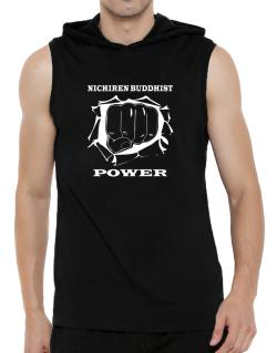 Nichiren Buddhist Power Hooded Sleeveless T-Shirt - Mens