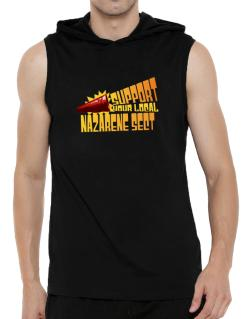 Support Your Local Nazarene Sect Hooded Sleeveless T-Shirt - Mens