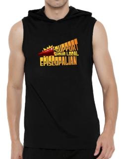 Support Your Local Episcopalian Hooded Sleeveless T-Shirt - Mens