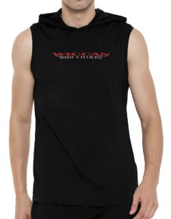 Wiccan Who Thinks Hooded Sleeveless T-Shirt - Mens