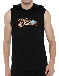 Albanian Orthodoxy Not From This World Hooded Sleeveless T-Shirt - Mens