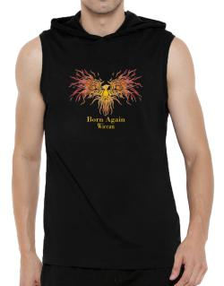 Born Again Wiccan Hooded Sleeveless T-Shirt - Mens