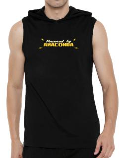 Powered By Anaconda Hooded Sleeveless T-Shirt - Mens