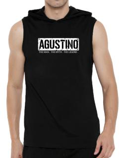 Agustino : The Man - The Myth - The Legend Hooded Sleeveless T-Shirt - Mens