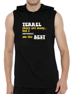 Terrel There Are Many... But I (obviously) Am The Best Hooded Sleeveless T-Shirt - Mens