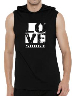 Love Shogi Hooded Sleeveless T-Shirt - Mens