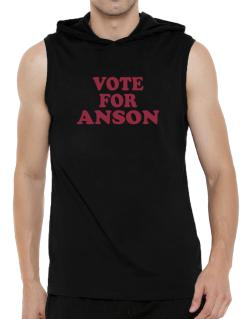 Vote For Anson Hooded Sleeveless T-Shirt - Mens