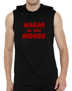 Marsh In The House Hooded Sleeveless T-Shirt - Mens