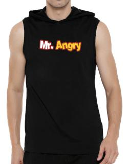 Mr. Angry Hooded Sleeveless T-Shirt - Mens