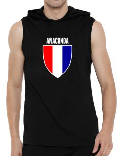 Anaconda Escudo Usa Hooded Sleeveless T-Shirt - Mens