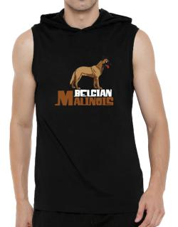 Belgian malinois cute dog Hooded Sleeveless T-Shirt - Mens