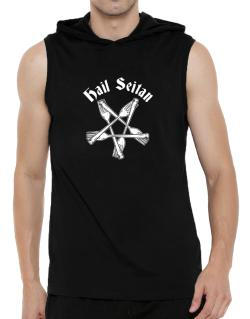 Hail Seitan Hooded Sleeveless T-Shirt - Mens