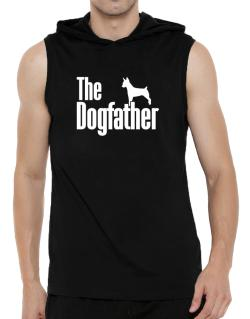 The dogfather Rat Terrier Hooded Sleeveless T-Shirt - Mens