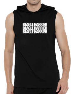 Beagle Harrier three words Hooded Sleeveless T-Shirt - Mens