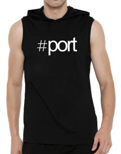 Hashtag Port Hooded Sleeveless T-Shirt - Mens