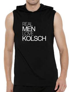 Real men love Kolsch Hooded Sleeveless T-Shirt - Mens