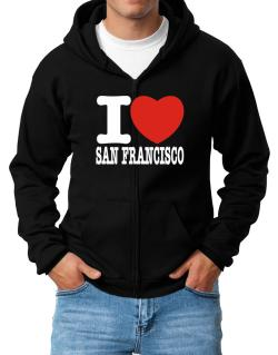 I Love San Francisco Zip Hoodie - Mens