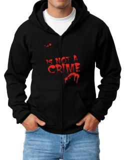 Being A ... Red Wolf Is Not A Crime Zip Hoodie - Mens