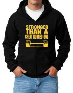 Stronger Than A Great Horned Owl Zip Hoodie - Mens
