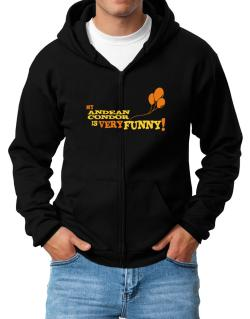 My Andean Condor Is Very Funny Zip Hoodie - Mens