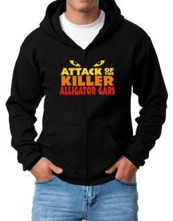 Attack Of The Killer Alligator Gars Zip Hoodie - Mens