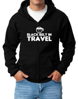 Black Belt In Travel Zip Hoodie - Mens