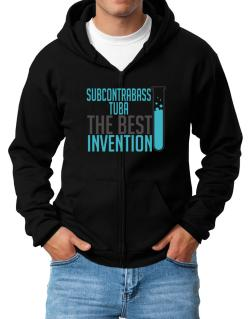 Subcontrabass Tuba The Best Invention Zip Hoodie - Mens