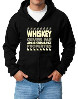Whiskey Gives Me Aphrodisiacal Properties Zip Hoodie - Mens