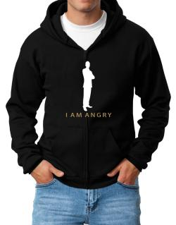 I Am Angry - Male Zip Hoodie - Mens