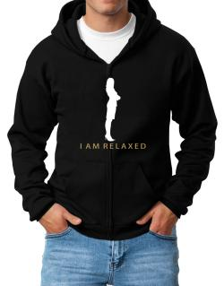 I Am Relaxed - Female Zip Hoodie - Mens